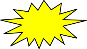 yellow blast clip art at clker com vector clip art online royalty rh clker com blast clipart vector bullet clip art free