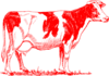 Red Cow Outline Clip Art