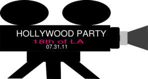 Hollywood Videocam Party Clip Art