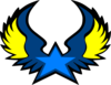 Blue Star Wings Clip Art