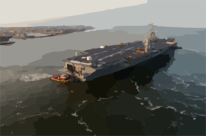 Uss Harry S. Truman (cvn 75) Pulls Away From Pier 14 South Of Naval Station Norfolk (nob) For Her Transit To The Norfolk Navy Shipyard Clip Art