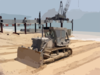 U.s. Navy Seabees Assigned To Amphibious Construction Battalions One And Two Continue To Smooth The Beaches For Future Operations In Preparation For The Completion Of The At Camp Patriot Clip Art