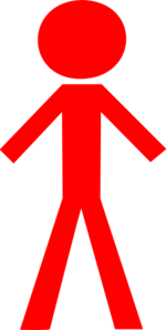Red Stick Man Clip Art
