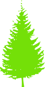 Lime Green Tree Clip Art
