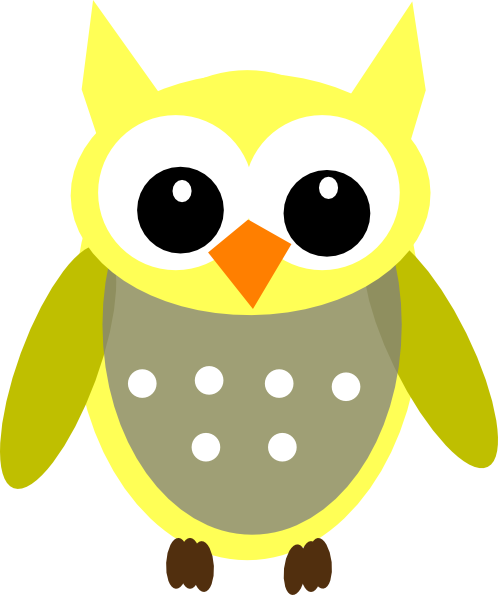 cute yellow gray owl clip art at clker com vector clip art online rh clker com cute owl clipart black and white owl clipart cute