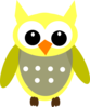 Cute Yellow Gray Owl Clip Art