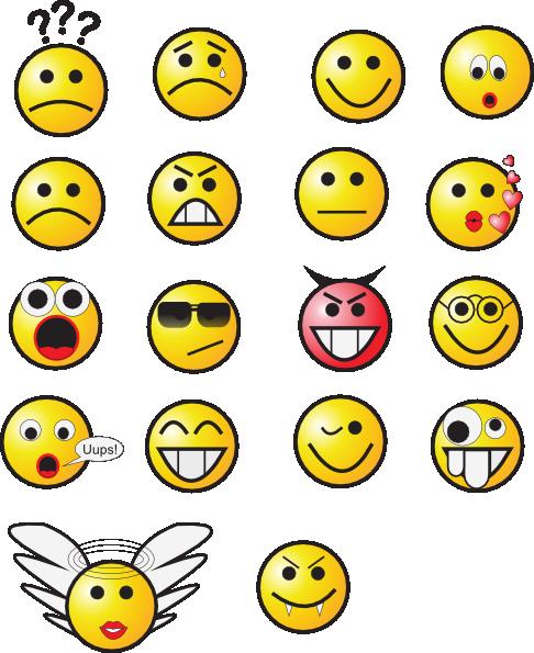 Smiley Faces 3 clip art