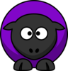 Sheep Looking Cross-eyed Purple  Clip Art