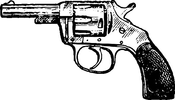 Line Drawing Gun : Gun clip art at clker vector online