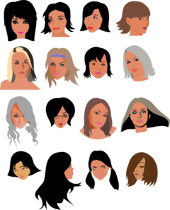 Women Faces Clip Art