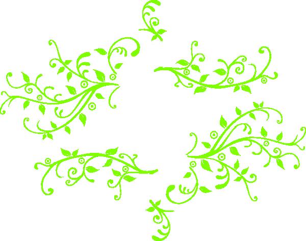 Leaf Swirl Green Clip Art at Clker.com - vector clip art online ...