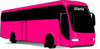 Atlanta Pink Bus Clip Art