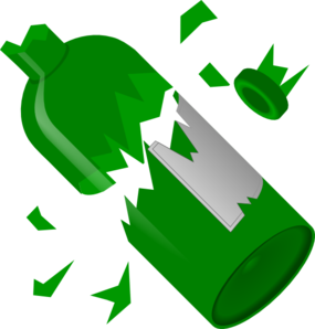 Broken Wine Bottle Clip Art