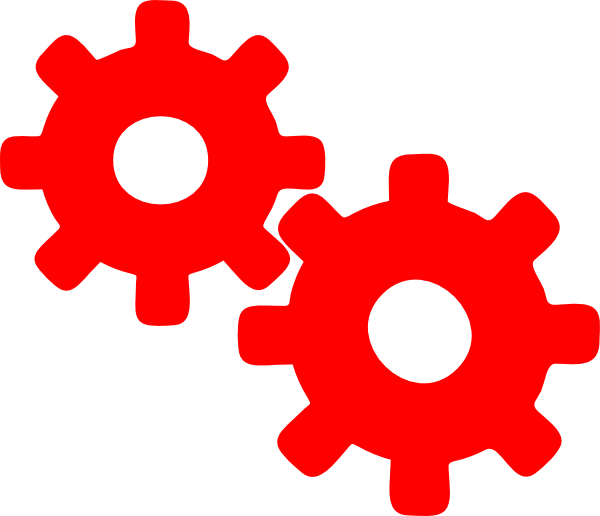 Gear Red Clip Art At Clker Com Vector Clip Art Online