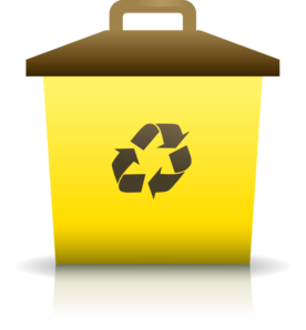 Yellow Recycling Container Clip Art