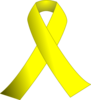 Yellow Ribbon W/black Background Clip Art