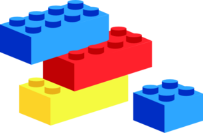 Lego Stacks Rearranged Clip Art