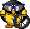 Bicyclist Penguin Clip Art
