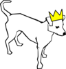 Dog Wearing Crown Clip Art