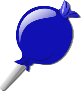 Blue Lolly Clip Art