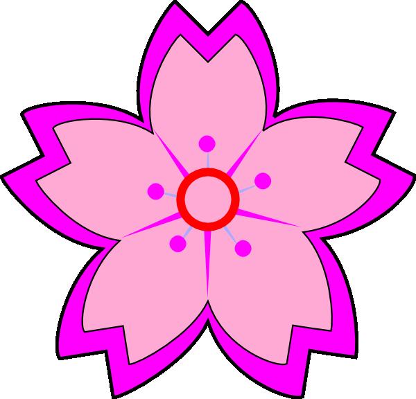 Pink Sakura Clip Art At Clker Com Vector Clip Art Online