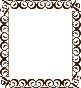Chocolate Brown Border Clip Art