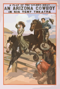 A Play Of The Golden West, An Arizona Cowboy In Big Tent Theatre Clip Art