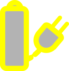 Yellow Laptop Charger Clip Art