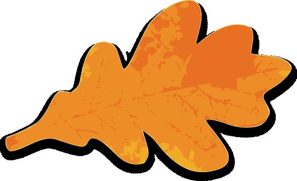 orange leaf clip art - photo #8