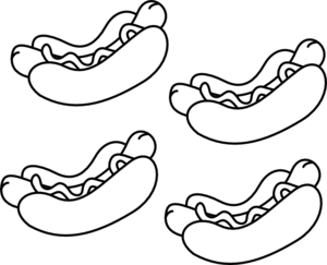 Hot Dogs Clip Art