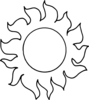 Outline Decorative Sun Clip Art