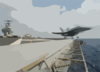 F/a-18 Catapult Launch From Flight Deck. Clip Art