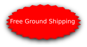 Red Oval Star - Free Shipping Clip Art