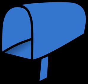 blue mailbox open clip art at clker com vector clip art online rh clker com free mailbox clipart images