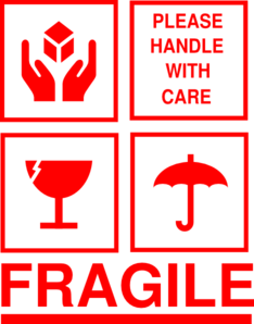 Fragile Sticker Clip Art