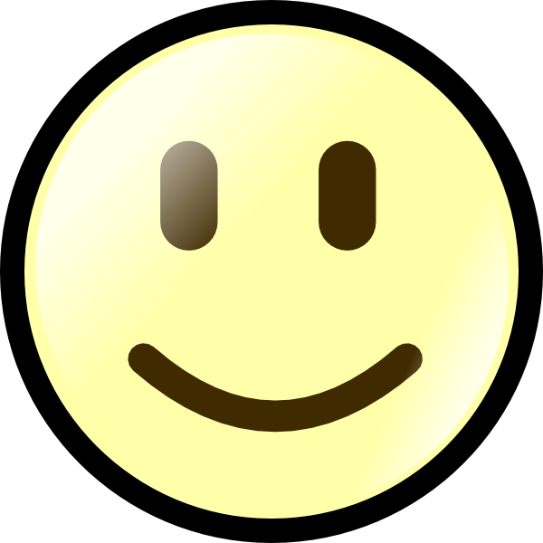 Yellow Happy Face Clip Art at Clker.com - vector clip art ...