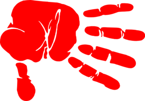 Hand Print Red Clip Art