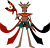 Man With Anubis Staff Clip Art