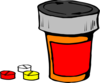 Red And Orange Drug Bottle Clip Art
