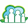 Royalty Free Vector Of An Eco Family And Leaves Logo By Lal Perera Clip Art