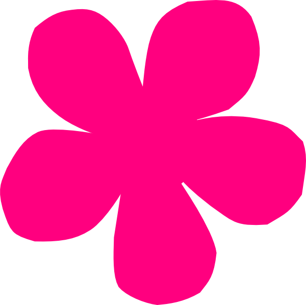 Pink Flower Blob Clip Art at Clker.com - vector clip art ...