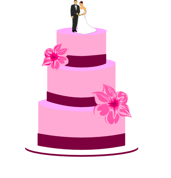 Wedding Cake Clip Art | pink wedding cake clip art at ...
