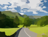 Road In The Hill Clip Art