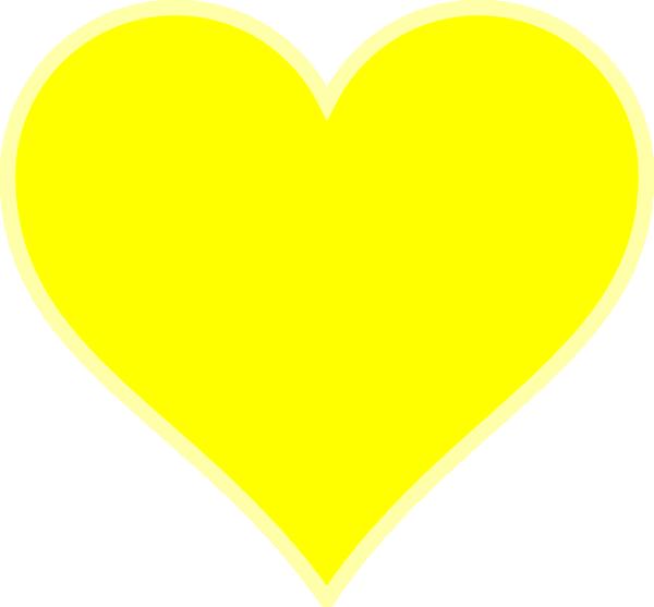 Single Yellow Heart Clip Art at Clker.com - vector clip art online ...