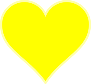 Single Yellow Heart Clip Art