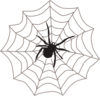 Spider With Web Clip Art