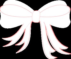 White Ribbon Bow Clip Art at Clker.com - vector clip art online ...