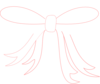White Ribbon Bow Clip Art