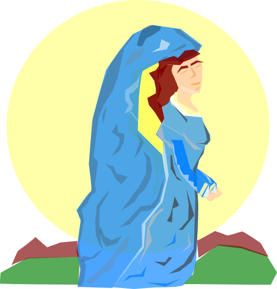 clipart of mother mary - photo #30