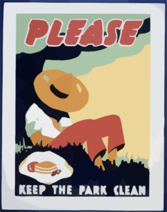 Please Keep The Park Clean Clip Art